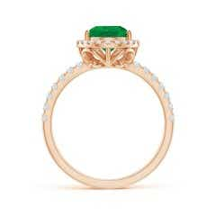 Toggle GIA Certified Pear-Shaped Emerald Double Shank Ring