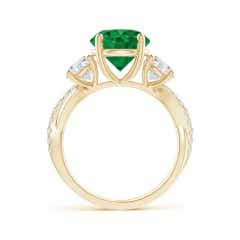 Angara GIA Certified Emerald Twisted Shank Ring with Diamonds TS7fj