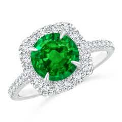 Angara GIA Certified Emerald Ring with Trillion Side Diamonds 5zEjszYI