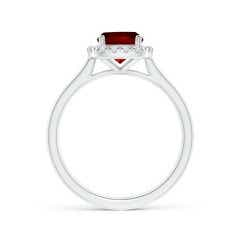 Toggle Classic GIA Certified Cushion Ruby Halo Ring