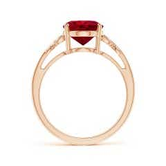 Toggle GIA Certified Oval Ruby Butterfly Bypass Ring