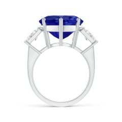 Toggle GIA Certified Tanzanite Heart Ring with Baguette Diamonds