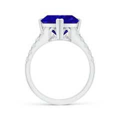 Toggle GIA Certified Triangular Tanzanite Ring with Diamonds