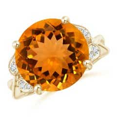Angara Citrine Ring - Classic GIA Certified Cushion Citrine Crossover Shank Ring 59Qqulf5wj
