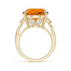 Toggle Vintage Style GIA Certified Citrine Crossover Shank Ring