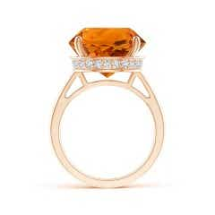 Toggle Classic GIA Certified Round Citrine Solitaire Ring
