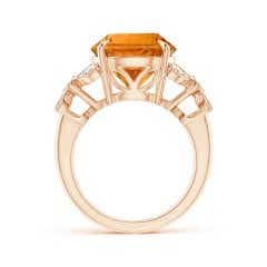 Toggle Nature Inspired GIA Certified Citrine Ring with Leaf Motifs