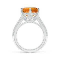 Toggle Nature Inspired GIA Certified Round Citrine Floral Ring