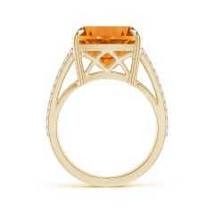Toggle Classic GIA Certified Cushion Citrine Crossover Shank Ring