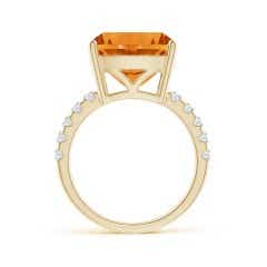 Toggle GIA Certified Cushion Citrine Solitaire Ring with Diamonds