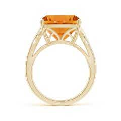 Toggle GIA Certified Cushion Citrine Crossover Shank Ring