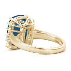 Toggle Rectangular Cushion London Blue Topaz Collar Ring