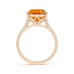 Toggle Classic GIA Certified Oval Citrine Solitaire Ring