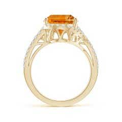 Toggle GIA Certified Oval Citrine Bypass Ring with Diamonds