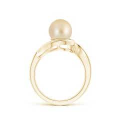 Toggle Golden South Sea Cultured Pearl and Diamond Loop Ring