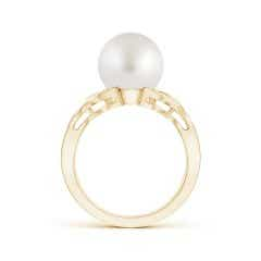 Toggle South Sea Cultured Pearl and Diamond Criss Cross Ring