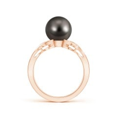 Toggle Tahitian Cultured Pearl and Diamond Criss Cross Ring
