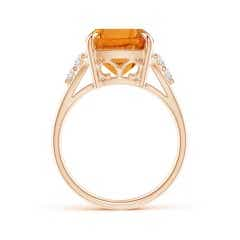Toggle GIA Certified Rectangular Cushion Citrine Ring with Diamonds