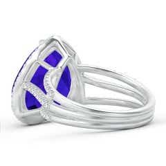 Toggle Heart-Shaped GIA Certified Tanzanite Triple Shank Ring