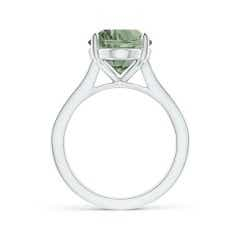 Toggle Classic GIA Certified Oval Green Amethyst (Prasiolite) Solitaire Ring
