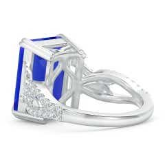 Toggle Octagonal GIA Certified Tanzanite Twisted Split Shank Ring