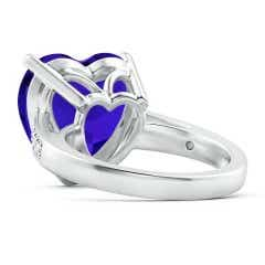 Toggle Heart-Shaped GIA Certified Tanzanite Solitaire Ring