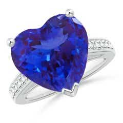 Heart-Shaped Tanzanite Solitaire Ring