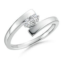 Bypass Round Two Stone Diamond Ring