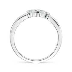 Toggle Round 2 Stone Diamond Ring with Bar Setting