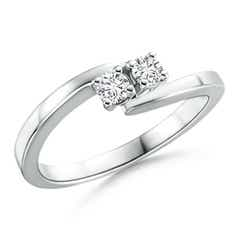 Classic Round Two Stone Diamond Bypass Ring