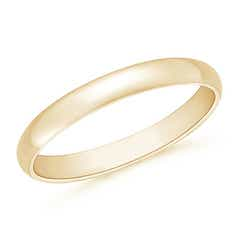 High Polished Plain Dome Wedding Band for Her