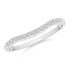 Prong Set Diamond Contour Wedding Band