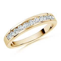 Round Diamond Half Eternity Wedding Band in Channel Set