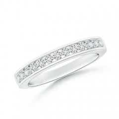 Channel Set Half Eternity Diamond Wedding Band