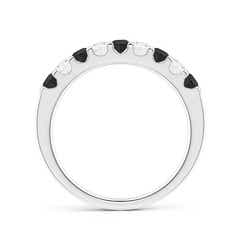 Toggle Prong-Set White and Enhanced Black Diamond Half Eternity Band