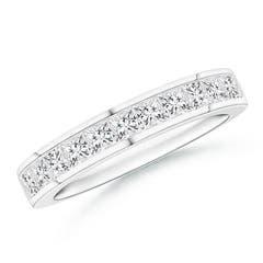 Channel Set Princess Diamond Half Eternity Wedding Band