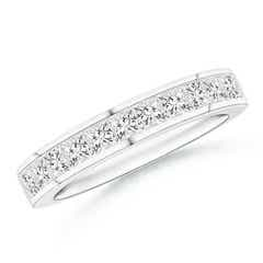 Channel Set Princess Diamond Half Eternity Wedding Band