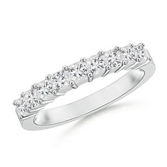 Princess Diamond Semi Eternity Classic Wedding Band