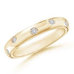 Gypsy Set Diamond High Domed Wedding Band for Women