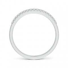 Toggle Fishtail Set Diamond Semi Eternity Wedding Band for Her