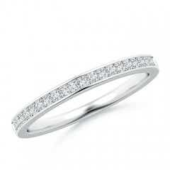 Pave Set Half Eternity Women's Diamond Wedding Band