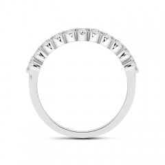 Toggle Floating Round Diamond Semi Eternity Wedding Band for Her