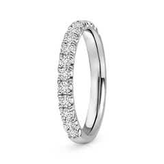 Toggle Half Eternity Round Diamond Wedding Band for Her