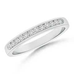 Channel-Set Half Eternity Diamond Wedding Band for Women