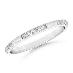 Pave-Set Semi Eternity Diamond Wedding Band for Women