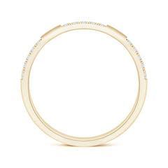 Toggle Pave-Set Semi Eternity Diamond Wedding Band for Women