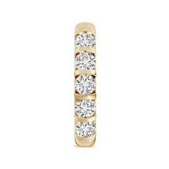 Toggle Bar Set Five Stone Round Diamond Wedding Band for Her