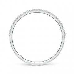Toggle Classic Split Prong Diamond Half Eternity Wedding Band