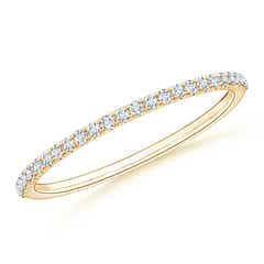 Classic Split Prong Diamond Half Eternity Wedding Band