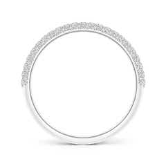 Toggle Triple Row Diamond Wedding Band for Women